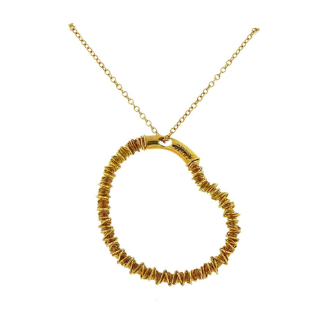 image of Pasquale Bruni Gold Heart Pendant Necklace