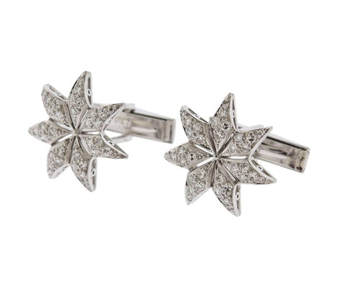 image of Midcentury Diamond Gold Star Cufflinks