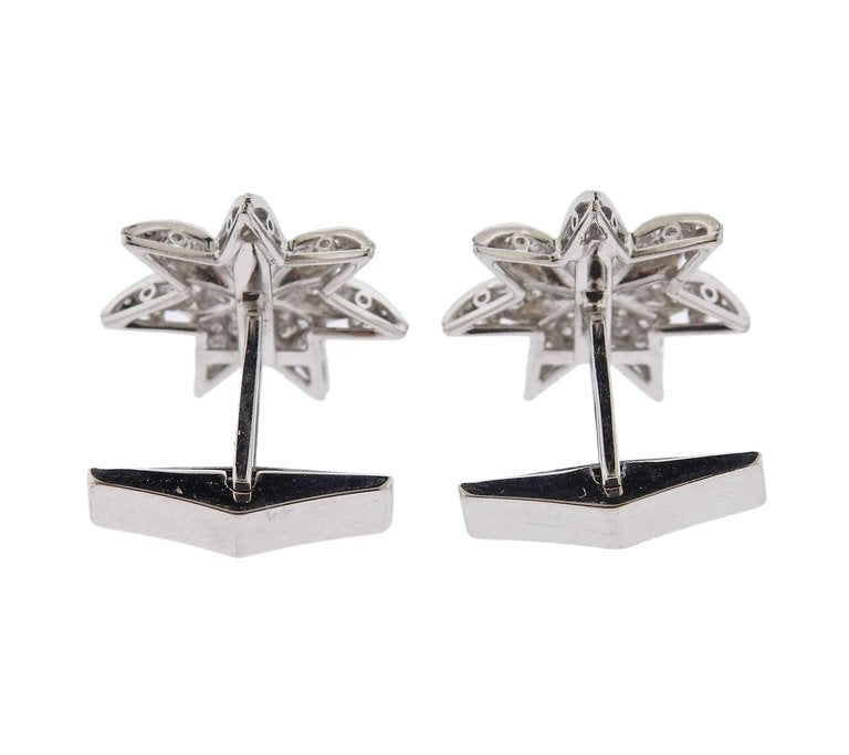 thumbnail image of Midcentury Diamond Gold Star Cufflinks