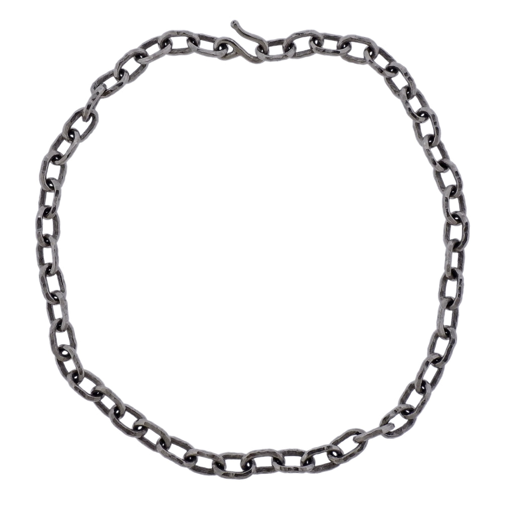 thumbnail image of Jean Mahie Platinum Link Necklace