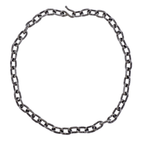 image of Jean Mahie Platinum Link Necklace