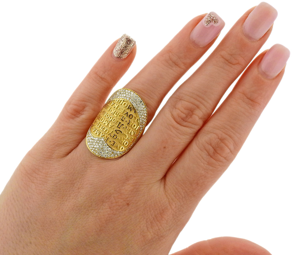 thumbnail image of Pasquale Bruni Profondo Amore Diamond Gold Ring