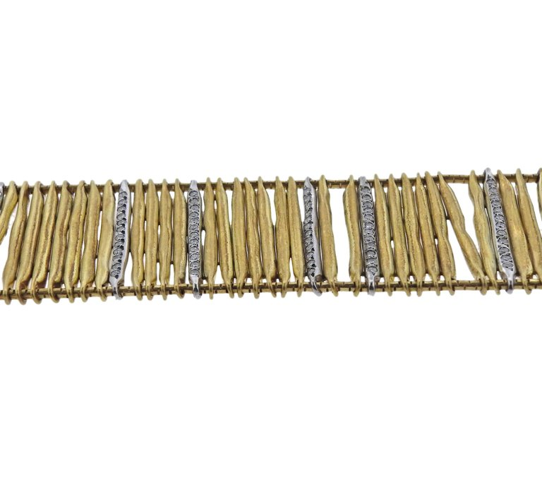 thumbnail image of H. Stern Filaments Diamond Gold Bracelet