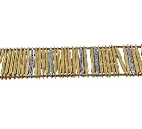 image of H. Stern Filaments Diamond Gold Bracelet