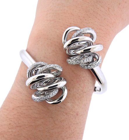 image of De Grisogono Vortice White Gold Diamond Bracelet