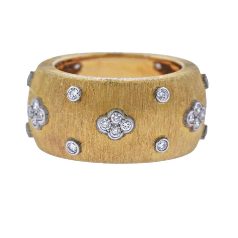 image of Buccellati Diamond Gold Classic Band Ring