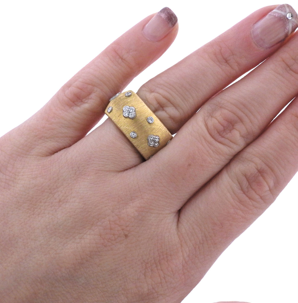 thumbnail image of Buccellati Diamond Gold Classic Band Ring