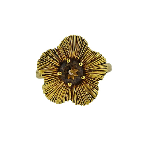 image of Pasquale Bruni Penelope 18K Gold Smoky Topaz Flower Ring