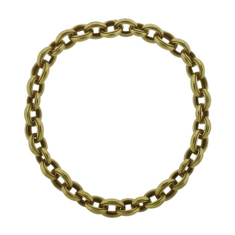 Massive Kieselstein Cord Gold Link Chain Necklace