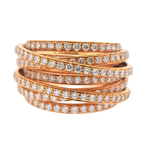 image of De Grisogono Allegra Rose Gold Diamond Ring 54