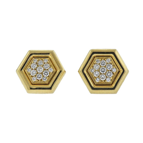 image of Piaget Diamond Gold Cufflinks