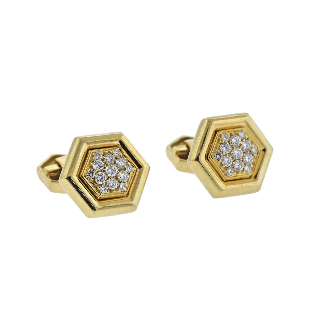thumbnail image of Piaget Diamond Gold Cufflinks