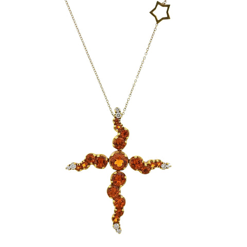 image of Pasquale Bruni 18K Gold Citrine Diamond Star Pendant Necklace