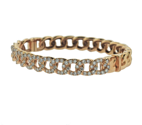 image of Odelia Rose Gold Diamond Link Bracelet