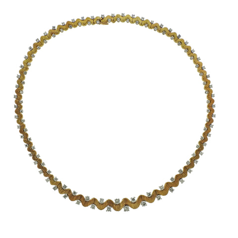 image of 1950s Oscar Heyman Diamond Platinum Gold Necklace