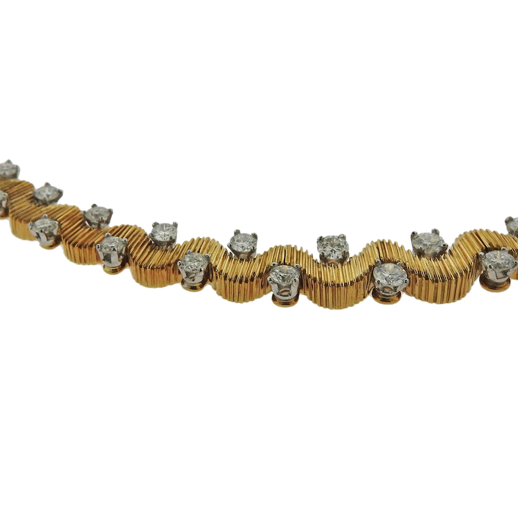 thumbnail image of 1950s Oscar Heyman Diamond Platinum Gold Necklace