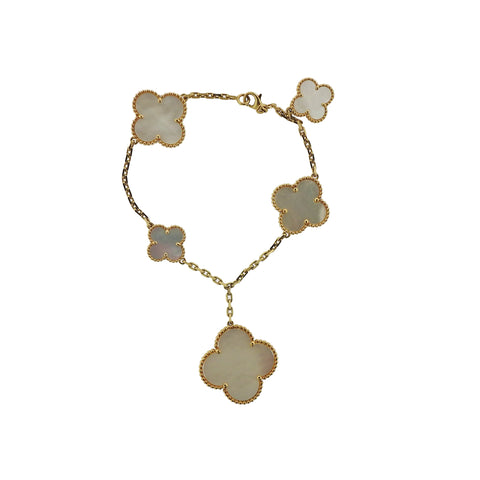 image of Van Cleef & Arpels Alhambra Mother of Pearl Bracelet