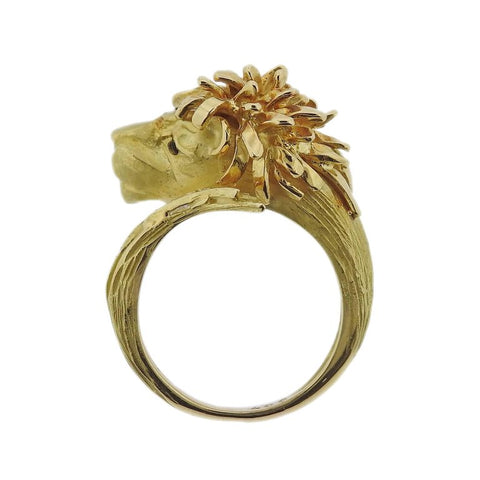 image of J. P. Bellin Diamond Gold Lion Ring