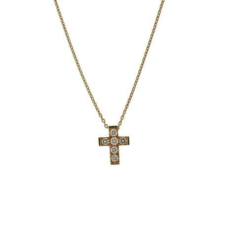 image of Van Cleef & Arpels Diamond Gold Cross Necklace