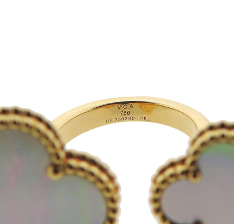 image of Van Cleef & Arpels Magic Alhambra Between the Finger Gold Ring