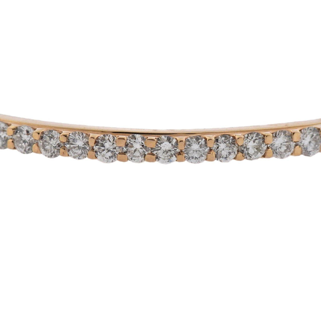 thumbnail image of 10 Carat Diamond Rose Gold Bangle Bracelet