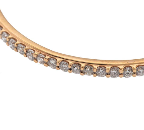 image of 10 Carat Diamond Rose Gold Bangle Bracelet