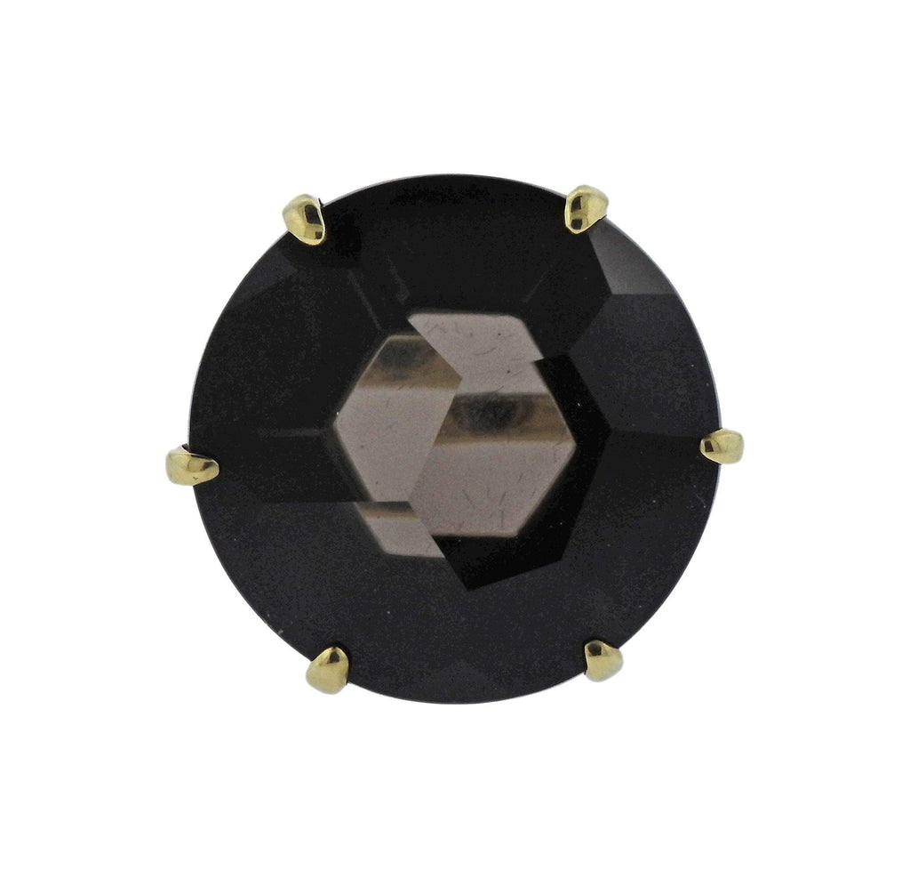 thumbnail image of Ippolita Gemma Smokey Quartz 18k Gold Ring