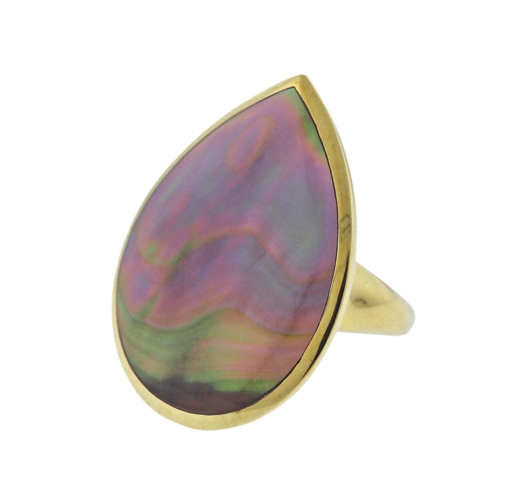 thumbnail image of Ippolita Polished Rock Candy Shell 18k Gold Ring