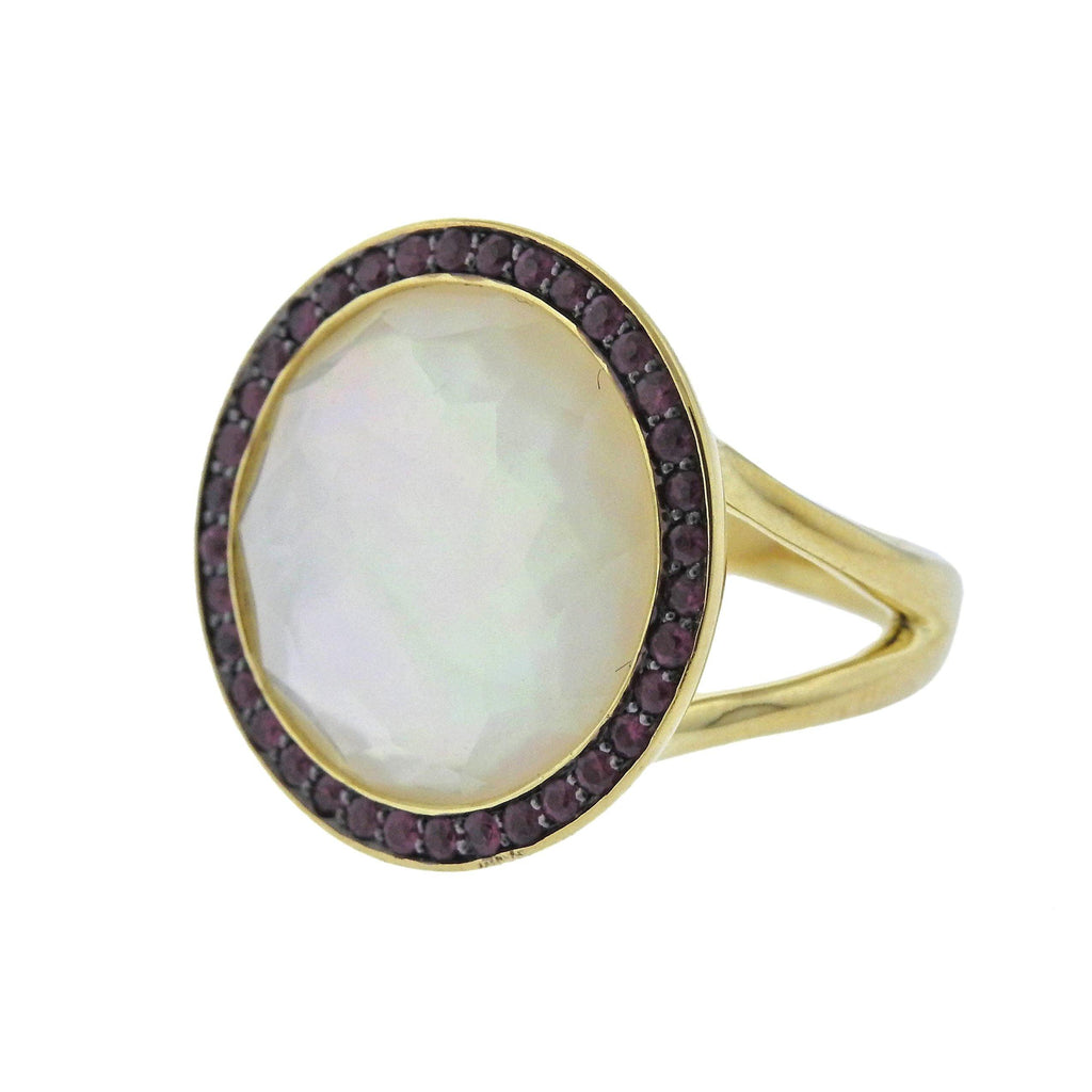 thumbnail image of Ippolita Lollipop Mother of Pearl Ruby 18k Gold Ring