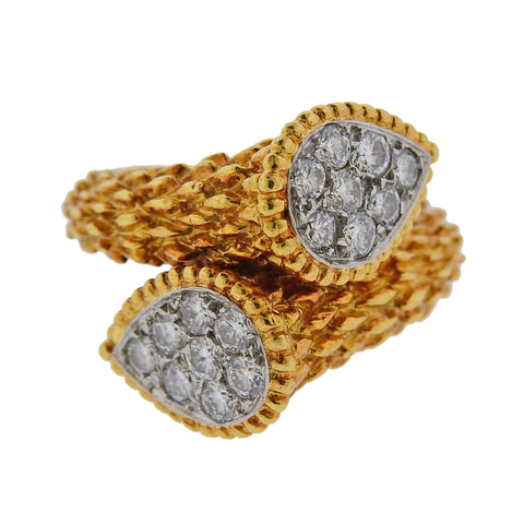 Boucheron Serpent Boheme Gold Diamond Ring