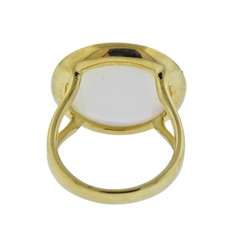 image of Ippolita Lollipop Mother of Pearl Ruby 18k Gold Ring