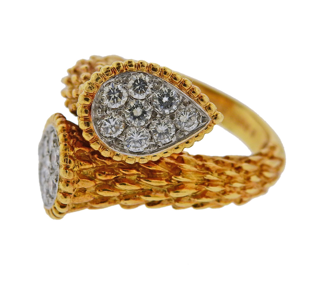 thumbnail image of Boucheron Serpent Boheme Gold Diamond Ring