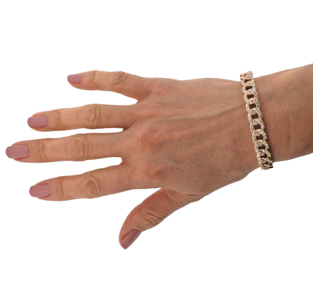 thumbnail image of Odelia Rose Gold Diamond Link Bracelet
