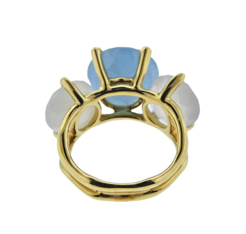 image of Ippolita Rock Candy Gelato Silk Road Gemstone 18k Gold Ring