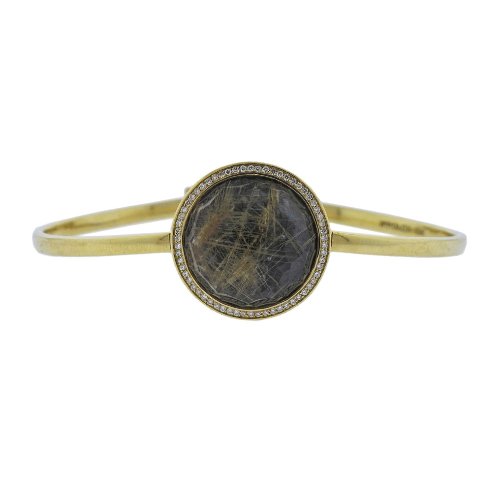 thumbnail image of Ippolita Lollipop Toglette Rutilated Quartz Diamond 18k Gold Bracelet