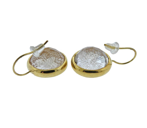 image of Ippolita Flower Cameo Quartz 18k Gold Earrings
