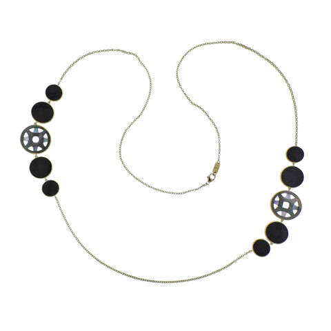 image of Ippolita Rock Candy Phantom Shell Onyx 18k Gold Necklace