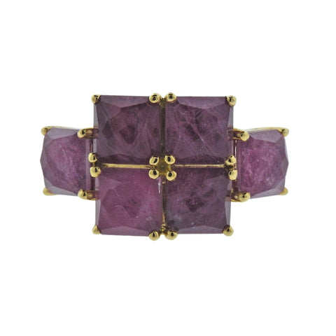 image of Ippolita Rock Candy Ruby 18k Gold Ring