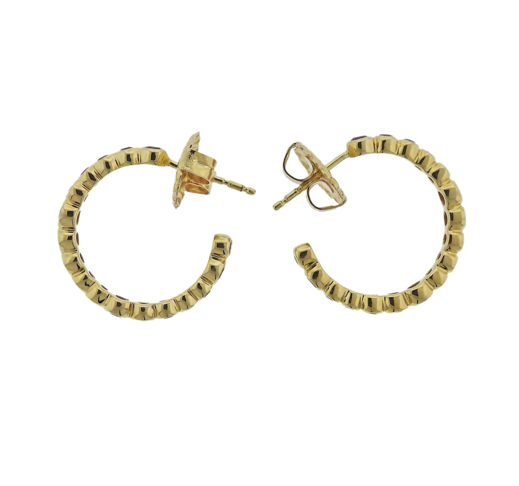 thumbnail image of Ippolita Stardust Orange Sapphire 18k Gold Hoop Earrings