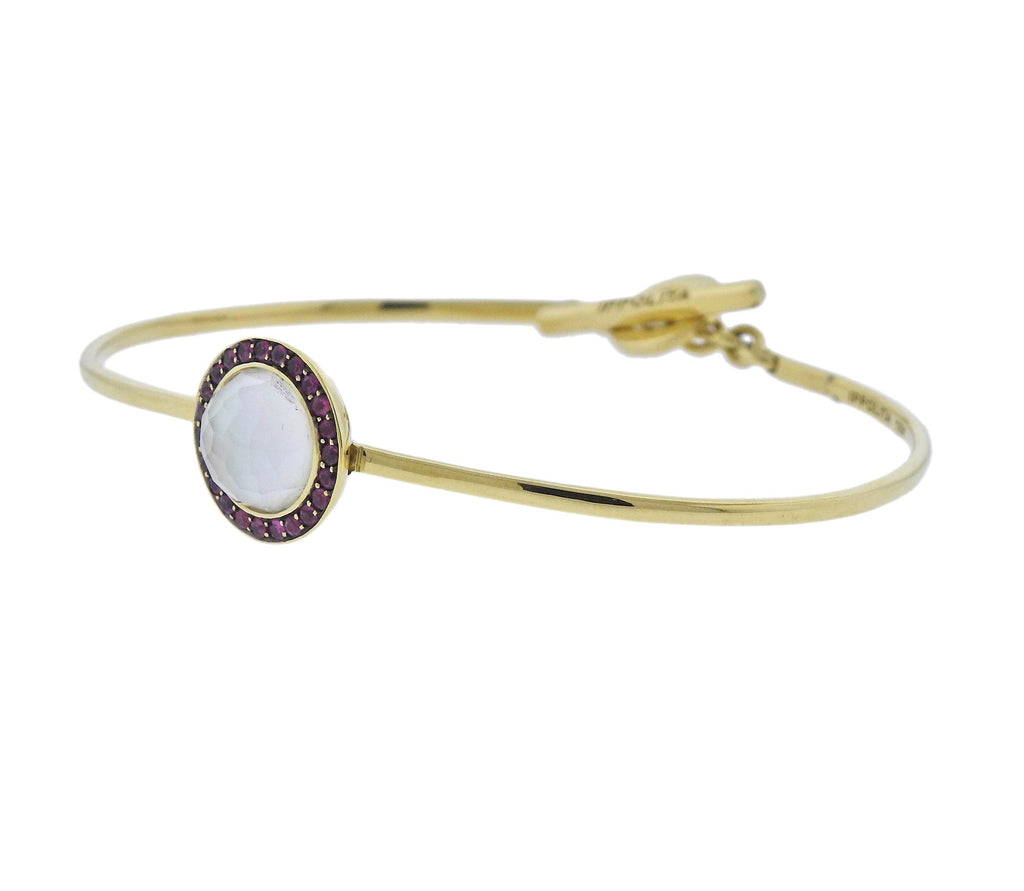 thumbnail image of Ippolita Lollipop Toglette Ruby Mother of Pearl 18k Gold Bracelet