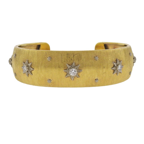 image of Buccellati Classic Diamond Gold Bracelet