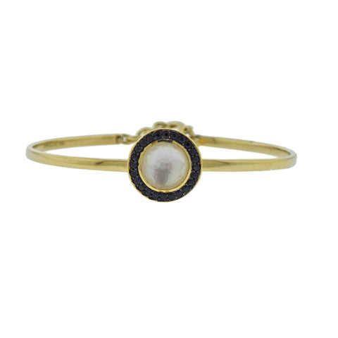 image of Ippolita Lollipop Toglette Sapphire Mother of Pearl 18k Gold Bracelet