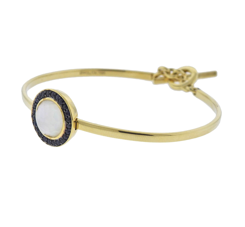 thumbnail image of Ippolita Lollipop Toglette Sapphire Mother of Pearl 18k Gold Bracelet