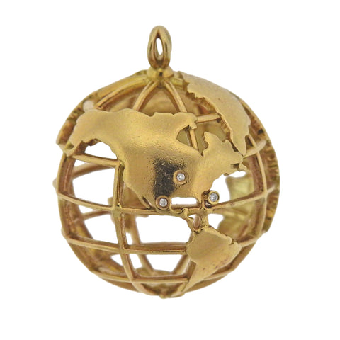 image of Monica Rich Kosann My Earth Gold Charm Pendant