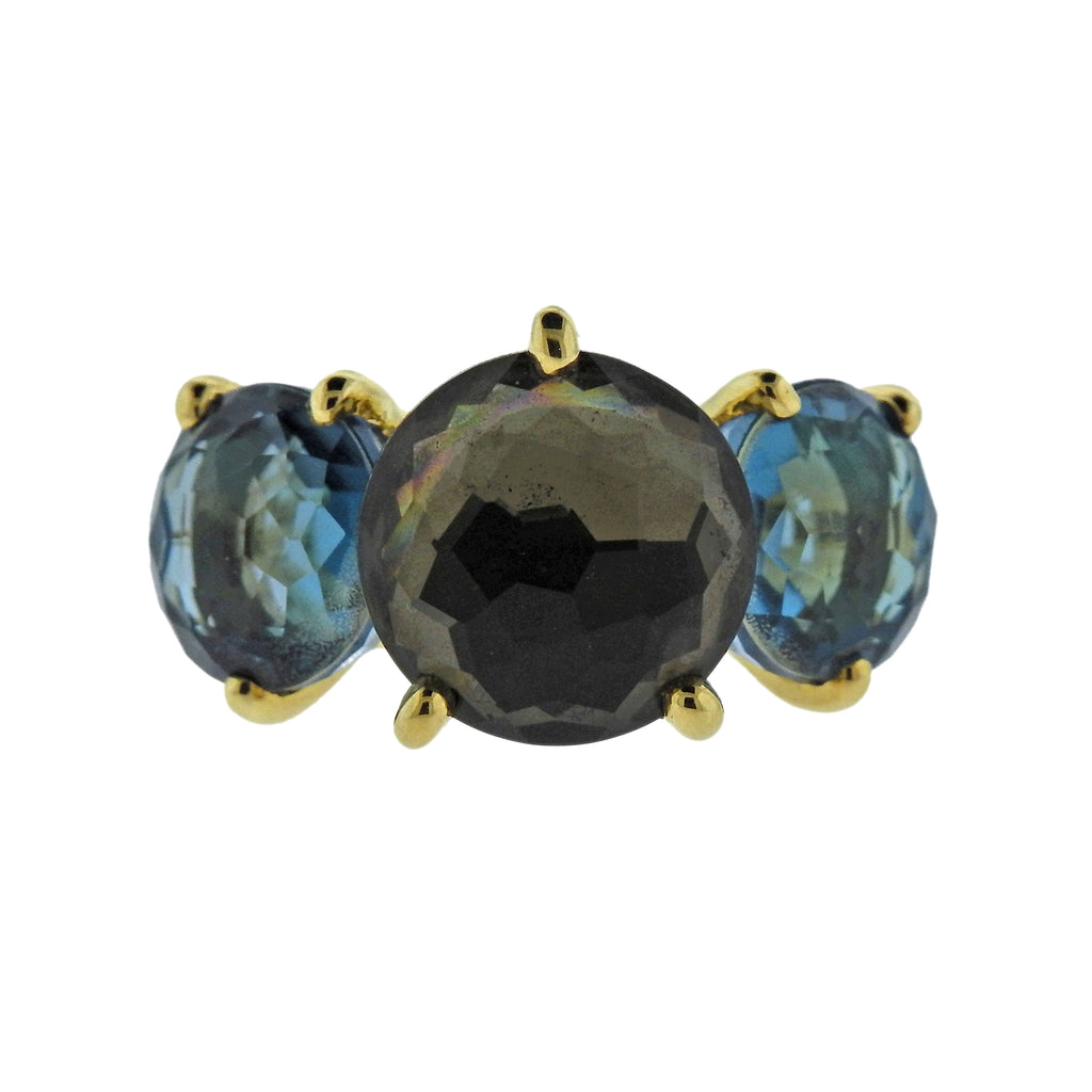 thumbnail image of Ippolita Rock Candy Tartan Gemstone 18k Gold Ring