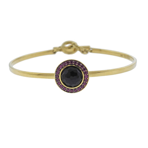 image of Ippolita Lollipop Toglette Onyx Ruby 18k Gold Bracelet