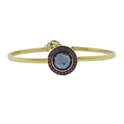 image of Lollipop Toglette London Blue Topaz Ruby 18k Gold Bracelet
