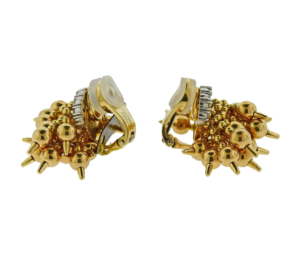 thumbnail image of Aletto Brothers Diamond Gold Drop Earrings