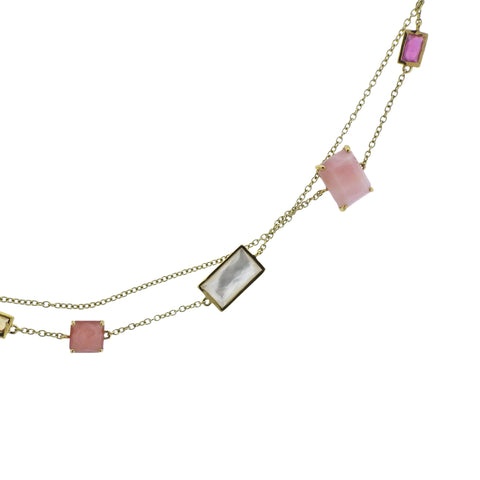 image of Ippolita Rock Candy Summer Rainbow Gemstone 18k Gold Necklace