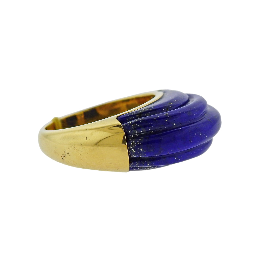 thumbnail image of Aletto Brothers Carved Lapis Lazuli Gold Ring